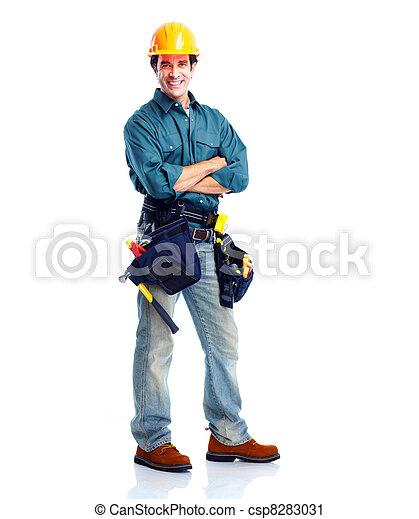 Trabajador de ciruelas. - csp8283031