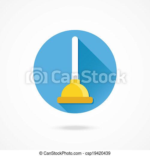 plongeur, vecteur, icône - csp19420439