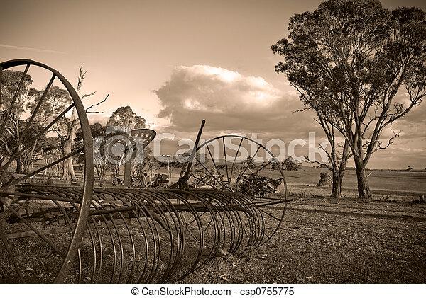 plough in sepia - csp0755775