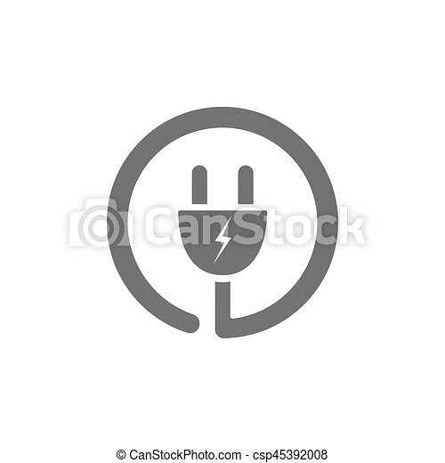 Plug icon on a white background - csp45392008