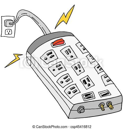 Plugged In Surge Protector - csp45416812