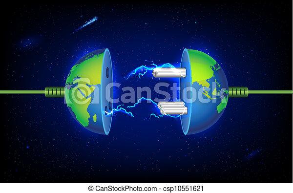 plugue, terra - csp10551621