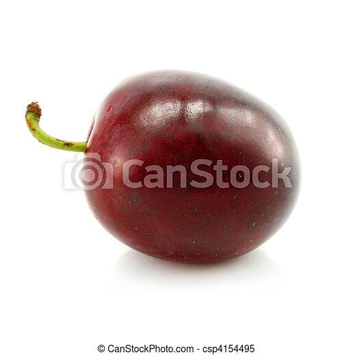plum fruit isolated on white - csp4154495