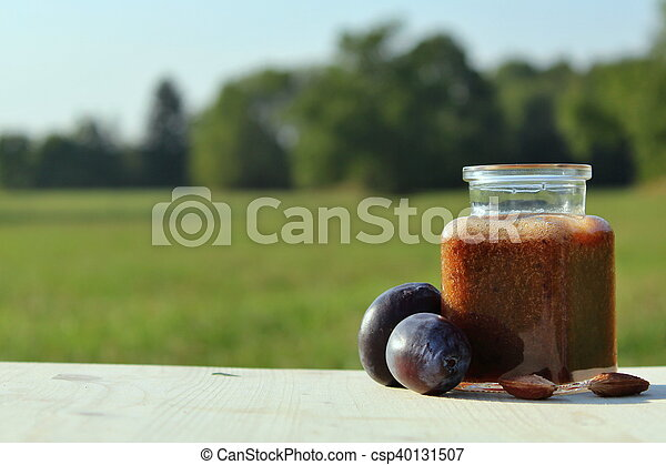 plum smoothie in nature - csp40131507