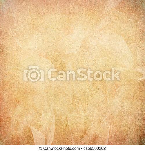 Una pluma de melocotón abstracta en papel - csp6500262