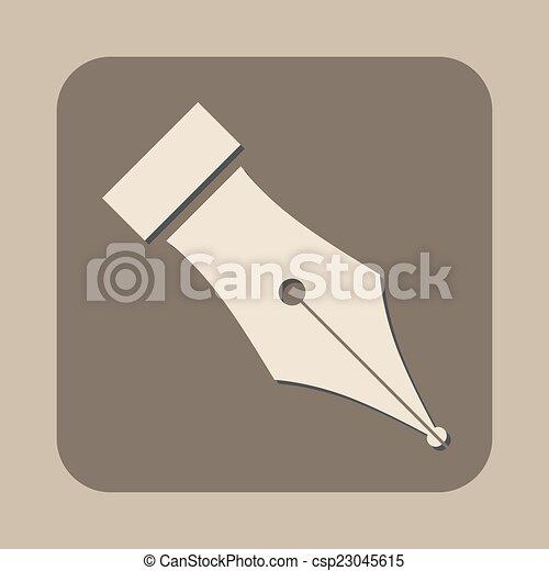 Fountain pen símbolo vector icono - csp23045615