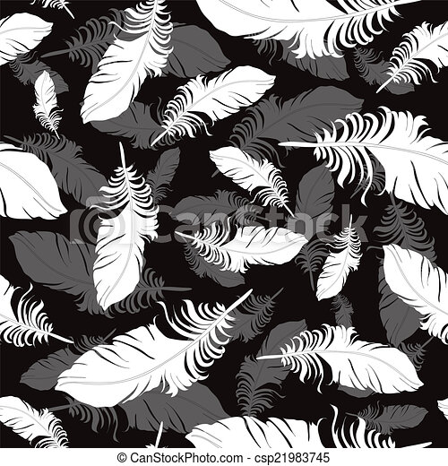 Plumage background seamless pattern vector. - csp21983745
