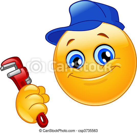 Plumber emoticon - csp3735563