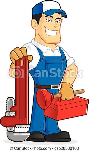 Plumber holding tools - csp28588183