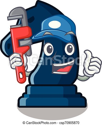 Plumber knight chess toys in character shape - csp70905870