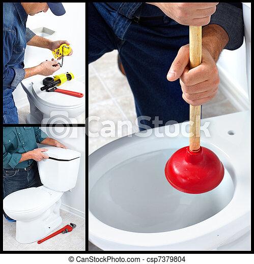 Plumber. Trabajador - csp7379804