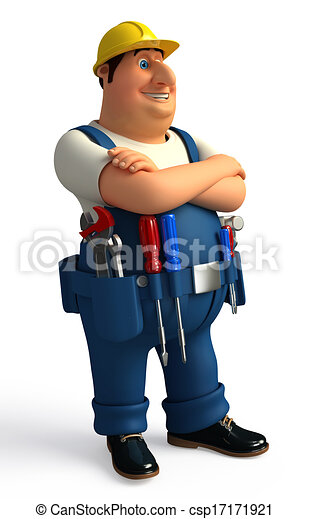 Plumber with tools - csp17171921