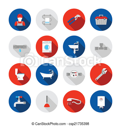 Plumbing icons set - csp21735398