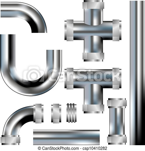 Plumbing pipes vector - csp10410282