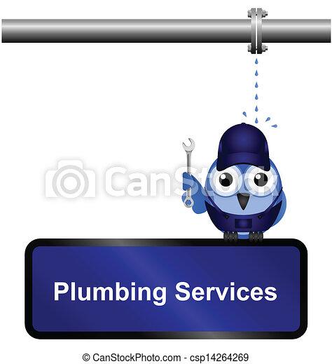 Plumbing Services Sign - csp14264269