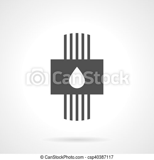 Plumbing System Black Design Vector Icon Plumbing And Water System