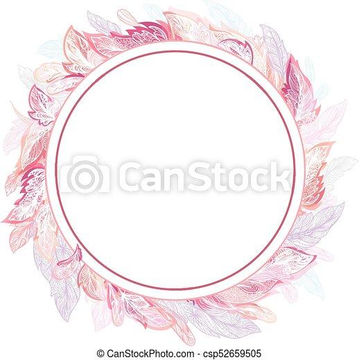 Plume Vecteur Romantique Cadre