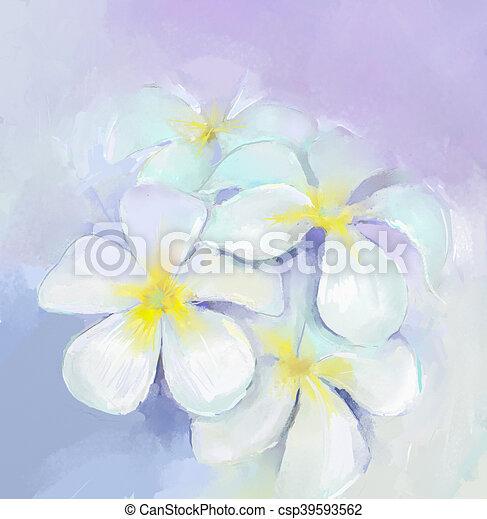Plumeria frangipani oil paintingwhite flowers oil painting oil plumeria frangipani oil paintingwhite flowers oil painting csp39593562 mightylinksfo