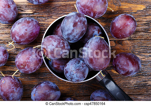 plums on the table - csp47850164
