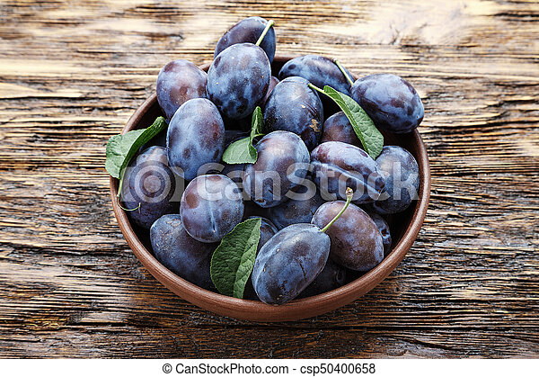 plums on the table - csp50400658