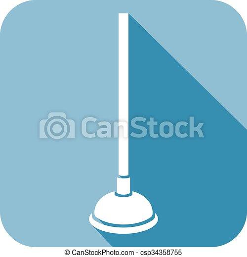 plunger flat icon - csp34358755