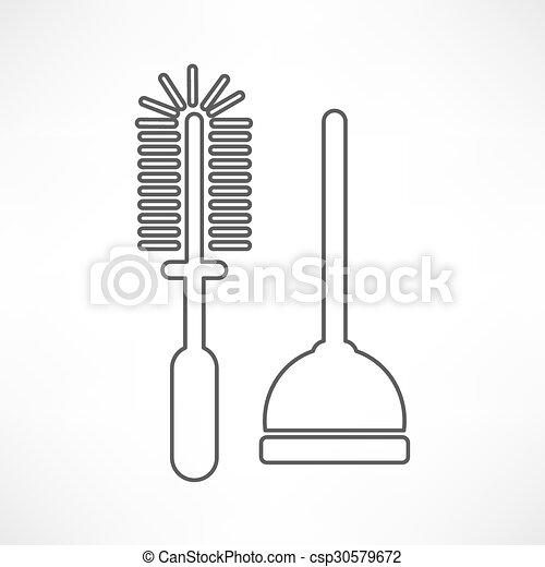 Plunger Illustration - csp30579672