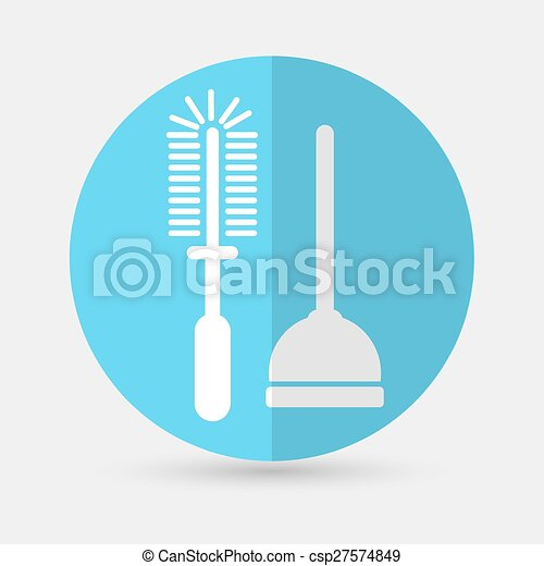 Plunger Vector Illustration on a white background - csp27574849