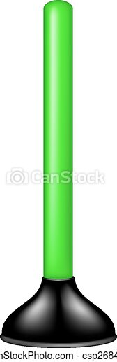 Plunger with green handle - csp26842506