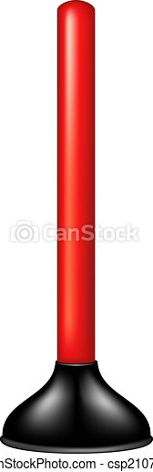 Plunger with red handle - csp21071075