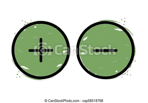 Plus and minus button icon - csp58518768