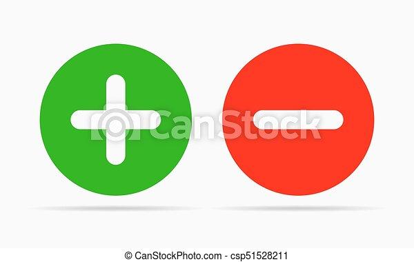 Plus and minus round icons. Vector illustration - csp51528211