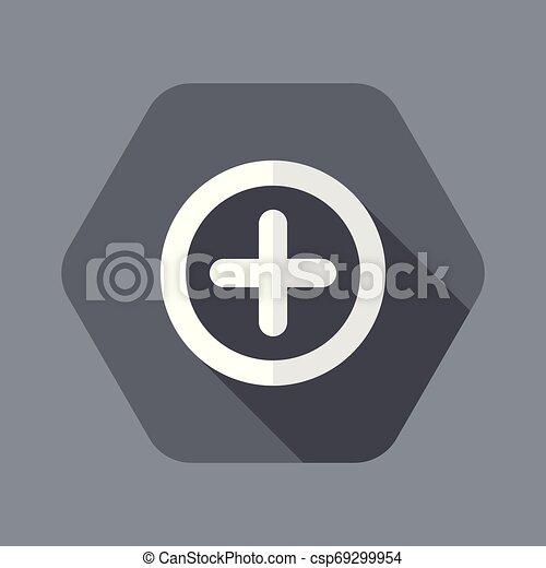Plus concept flat icon - csp69299954