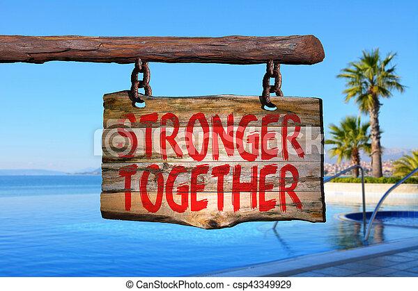 plus fort, ensemble - csp43349929