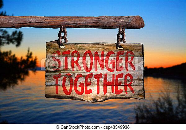 plus fort, ensemble - csp43349938