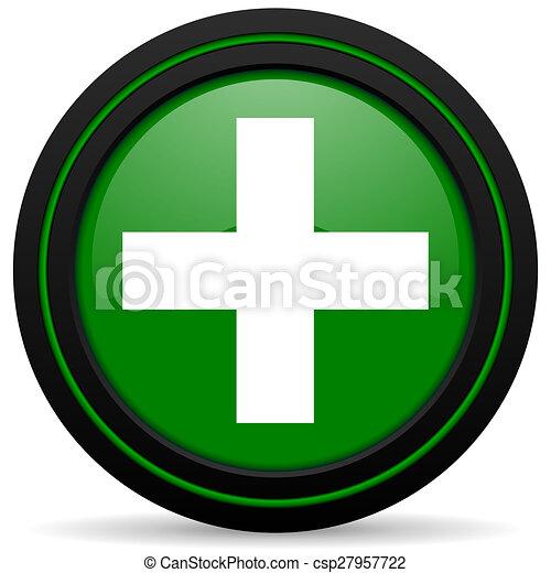 plus green icon cross sign - csp27957722