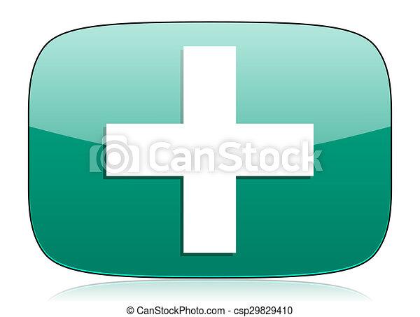 plus green icon cross sign - csp29829410