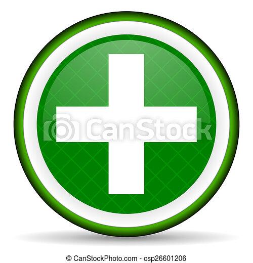 plus green icon cross sign - csp26601206
