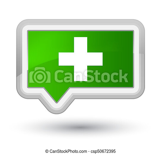 Plus icon prime green banner button - csp50672395