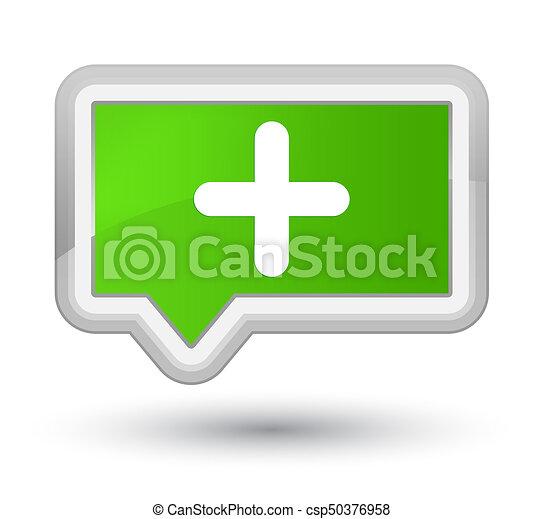 Plus icon prime soft green banner button - csp50376958