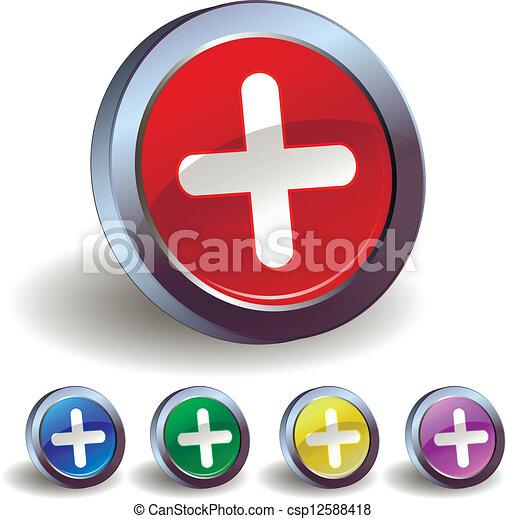 Plus icon - csp12588418