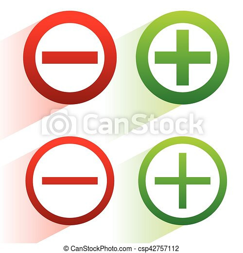 plus minus signs addition subtraction icons symbols with rh canstockphoto com subtraction clipart black and white subtraction with regrouping clipart