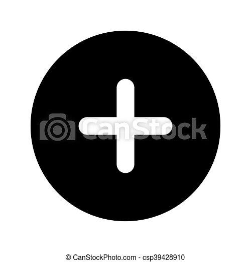plus sign button icon - csp39428910