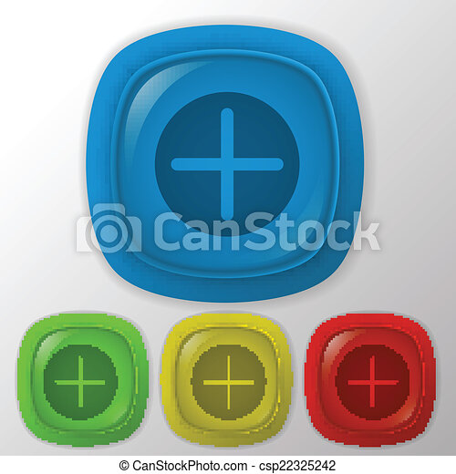 Plus sign icon. Positive symbol. - csp22325242