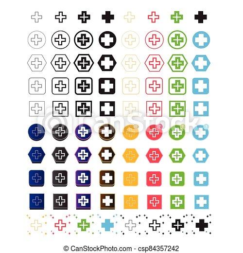 Plus Symbol  icon - csp84357242