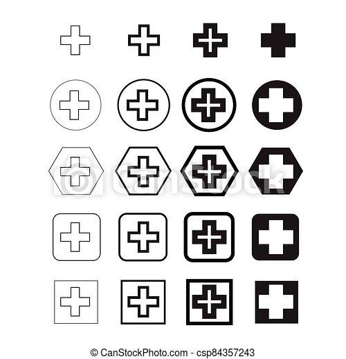 Plus Symbol  icon - csp84357243