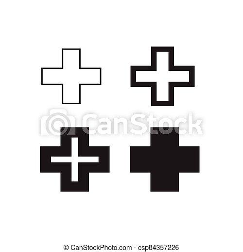 Plus Symbol  icon - csp84357226
