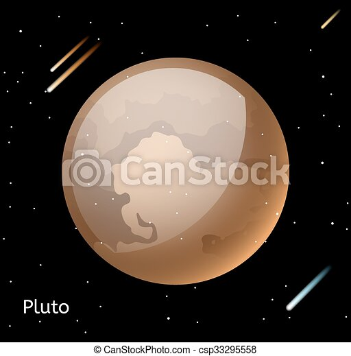 Pluto planet 3d vector illustration globe pluto texture map globe pluto planet 3d vector illustration gumiabroncs Images