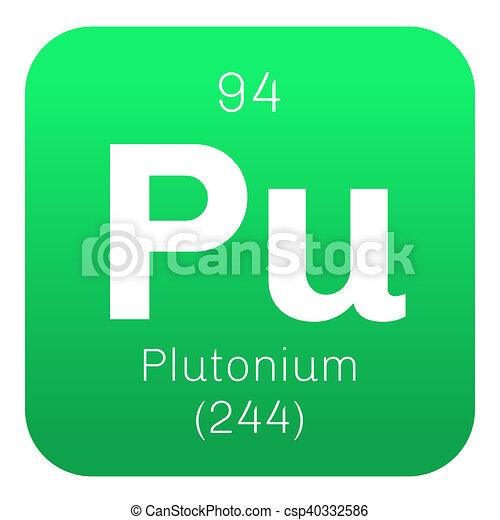 Plutonium Chemical Element Actinide Dangerous Radioactive Metal Of