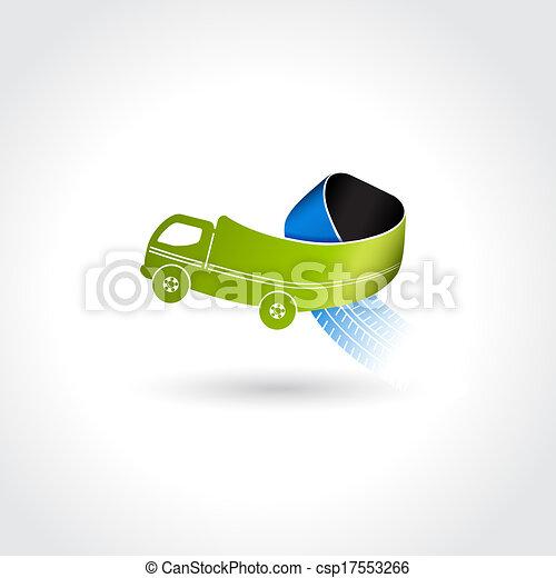 pneu, business, symbole, livraison, pistes, vecteur, camion, icône, transport - csp17553266