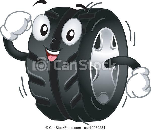 pneu, mascotte - csp10089284
